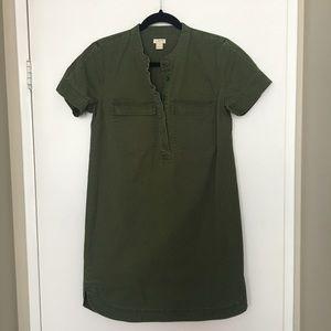 J. Crew Green Shift Dress sz. 2